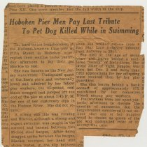 Image of Item 4: obituary (NYT?) circa June 1950