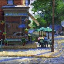 "Image of Painting: ""Tenth and Bloomfield Streets."" By Frank Hanavan, Hoboken, 2007. - Painting"