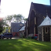 Image of 11: View northwest of south facade with parish house in background