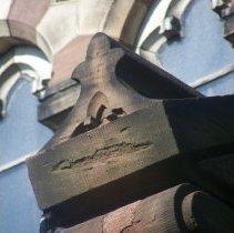 Image of 33: detail carved stone northeast corner