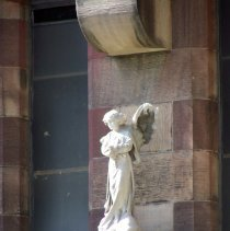 Image of 37: detail angel sculpture on east facade