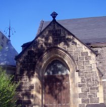 Image of 6: View of main entrance, Willow Avenue side.