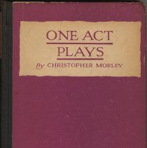 Image of One Act Plays. - Book