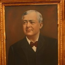Image of Digital image of portrait of Mayor George Gonzales on display in Mayor's Office, Hoboken City Hall. - Photograph