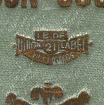 Image of detail union label imprint