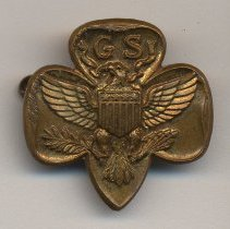 Image of Pin: Girl Scouts lapel pin, from Hoboken scout leader, no date, circa 1960-1970. - Pin, Fraternal