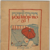 "Image of Program: ""You Know Me, Al!"" A Farce with Music. Presented by N.Y. Division (27th U.S.A.), Lexington Theatre, N.Y., Apr. 11-20, 1918. - Program"