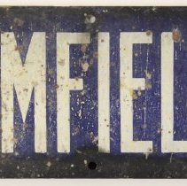 "Image of Enameled metal street sign, ""BLOOMFIELD ST"", Hoboken. - Sign"