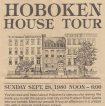 Image of Poster and guide for Hoboken House Tour, 1980. - Map