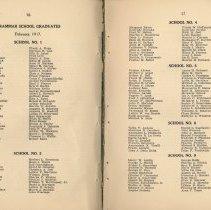 Image of pp 16-17: grammar school graduates, February 1917