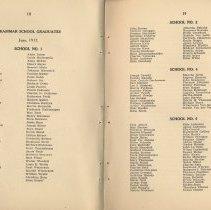 Image of pp 18-19: grammar school graduates, June 1917