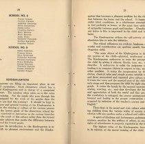 Image of pp 20-21: grammar school graduates, June 1917; kindergartens