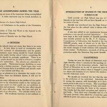 Image of pp 8-9 some things accomplished; criticism; spanish; calisthenics