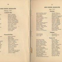 Image of pp 14-15: high school graduates, February 1917; June 1917