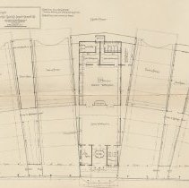 Image of detail center: plans of ferry houses and slips