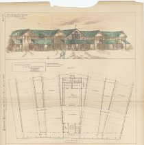 Image of Plans for the Ferry Houses of the Hoboken Land & Improvement Co., Hoboken, N.J, 1883. - Drawing, Architectural