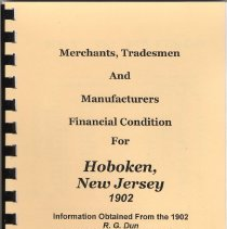 Image of Hoboken Businesses Financial ratings 1902 R.G. Dun Mercantile Agency Reference Book. - Book
