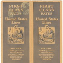 Image of First Class Rates. United States Lines. Dec. 15, 1926. No. 24. - Schedule