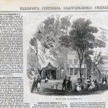 Image of detail of article & engraving: Sybil's Cave, at Hoboken, N.J.