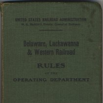 Image of Delaware, Lackawanna & Western Railroad. Rules for the Government of Operating Department. Effective December 15, 1918. - Book, Instruction