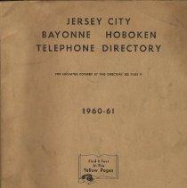 Image of Telephone directory: Jersey City, Bayonne, Hoboken, 1960-61. - Directory, Telephone