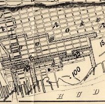 Image of detail of Hoboken only of 1874 sewer map