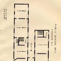 Image of plate: Hoboken Public School number one, first floor plan