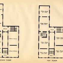Image of plate: Hoboken Public School number one, second & third floor plan
