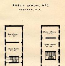 Image of plate: Hoboken Public School number two, first floor plan