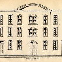 Image of plate: [Hoboken] Public School number 3, front facade