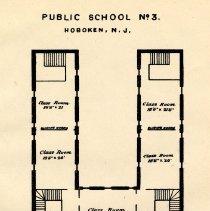 Image of plate: Hoboken Public School number three, first & second floor plan