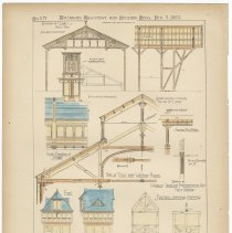 Image of Details of Hoboken Land & Improvement Co's. Ferry Buildings, Hoboken, N.J, 1883. - Drawing, Architectural