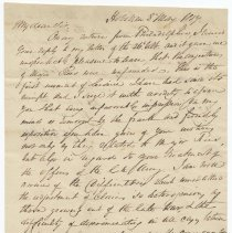 Image of ALS to Peter Hagen (or Hager), Esquire, Washington, from Brigadier General Robert Swartout, Hoboken, May 8, 1817. - Letter
