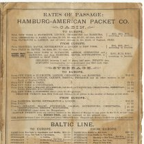 Image of Brochure: Hamburg-American Packet Company. Proposed Sailings. No. 90, March 4, 1887. - Brochure