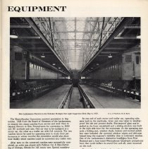 Image of pg 7: Equipment; photo interior Hoboken inspection shed new electric units
