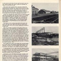 Image of pg 8: photos Hoboken Terminal roundhouse, motorized unit (MU) shed