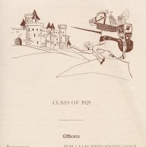 Image of pg 13: list Class of 1929 officers & members