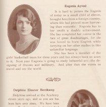 Image of pg 15: Class of 1929: Eugenia Ayvad; Delphine Eleanor Bentkamp