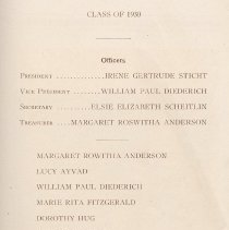 Image of pg 19: list of juniors, Class of 1930 officers & members