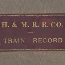 Image of Hudson & Manhattan Railroad Company, Train Records. Dec. 1914 to Feb. 1917. - Book, Record