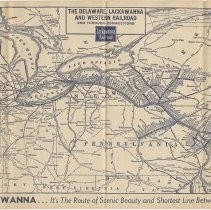 Image of pp [8-9] route map of Delaware, Lackwanna & Western Railroad