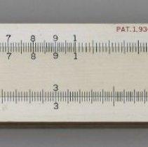 Image of Slide rule, model 4055 (advanced Mannheim type), 10 inch, made by Keuffel & Esser Co.in Hoboken, no date, circa 1937-1943. - Rule, Slide