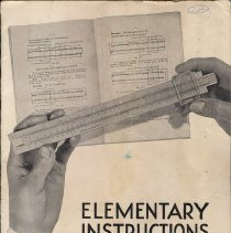 Image of Elementary Instructions for Operating the Slide rule. Copyright 1928 by Keuffel & Esser Co., probably 1942-1950 printing. - Manual, Training