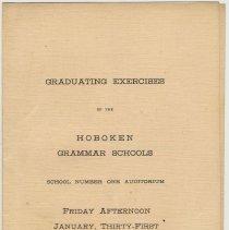 Image of Program for Hoboken Grammar School Graduation Ceremony, January 31, 1919. - Program
