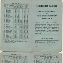 Image of Special Supplement Tariff No. 9 May 1956; pp [1]+4; 2+3