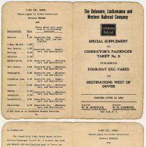Image of Encl 2: 4 day excursion fares, June 12, 1950; pp. [1]+4, 2-3