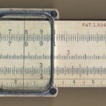 Image of Slide rule, model 4054 (advanced Mannheim type), 10 inch, made by Keuffel & Esser Co.in Hoboken, no date, circa 1937-1944. - Rule, Slide