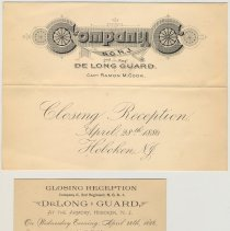 Image of announcement; admittance card