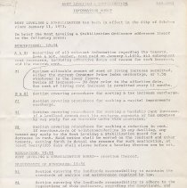 Image of Documents relating to rent regulation in Hoboken, no date, circa 1981-1982. - Rules