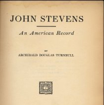 Image of John Stevens: An American Record. - Book